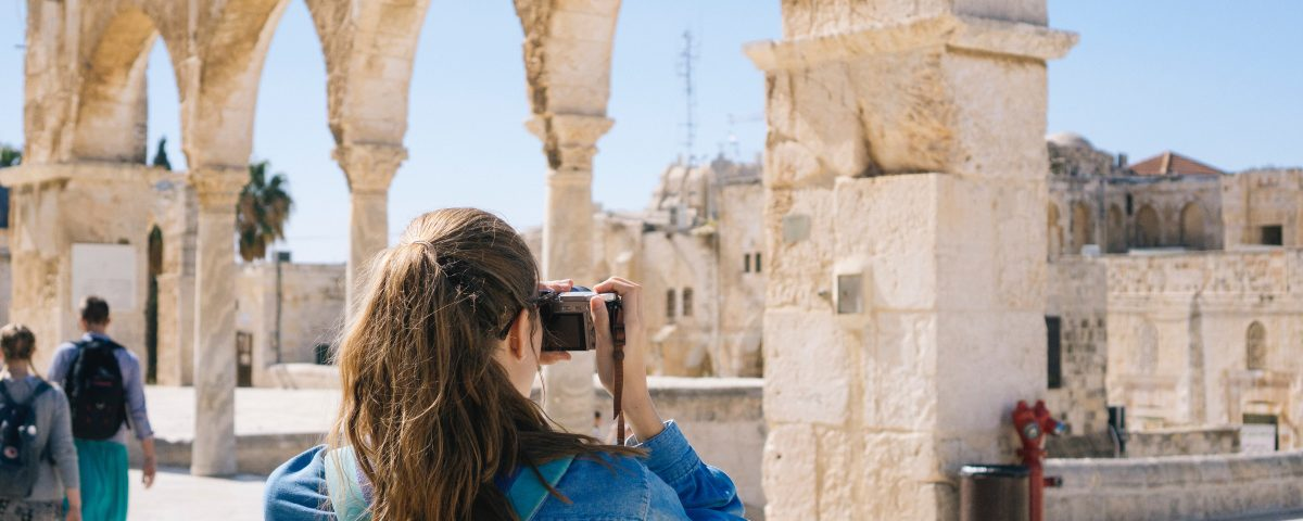 picture of ancient ruin taken by a tourist