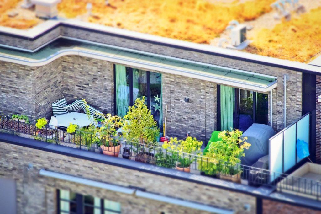 architectural garden balcony