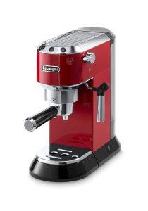 Red DeLonghi Espresso coffee machine