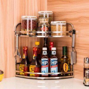 Condiment corner rack