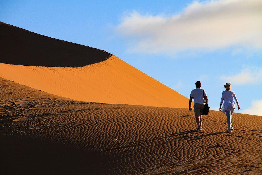 Self-discovery: Desert in Sossusvlei Namibia