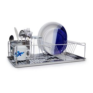 Dish Rack with Drip Tray & Cutlery Basket
