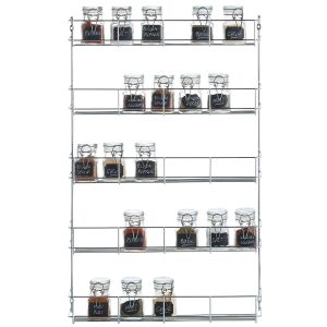 Wall mounted 5 Tier Spice Herbs Rack