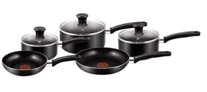 Tefal 5 Piece, Essential, Pots and Pans Set for home cooking
