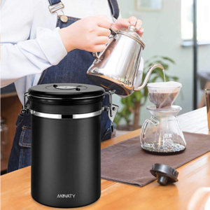 Airtight Coffee Canister Stainless Steel Coffee Container
