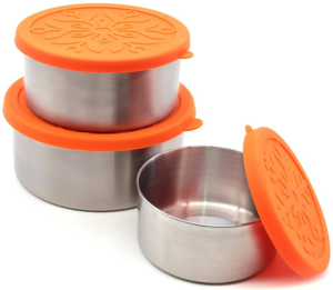 Stainless Steel Food Storage Containers with Silicone Lids