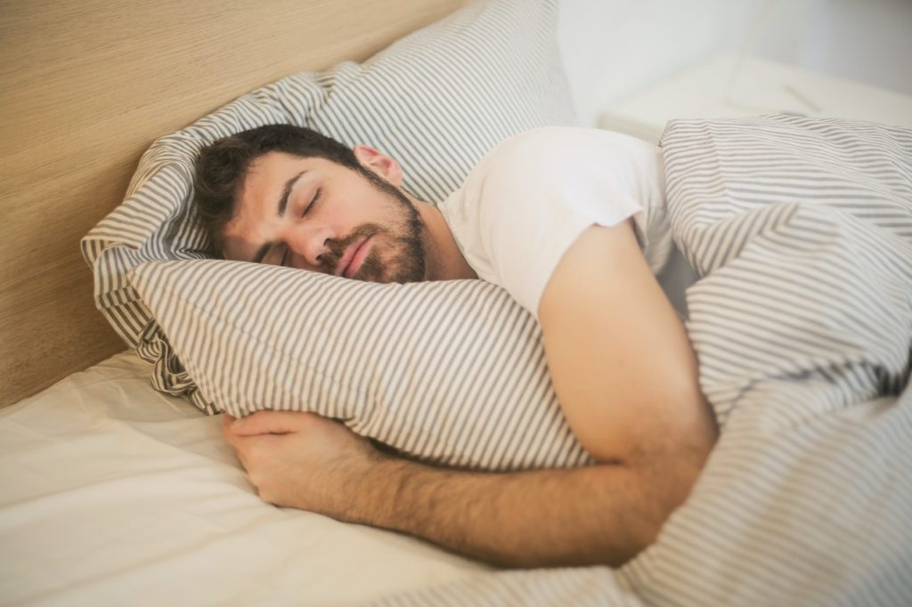 sleep hygiene - sleeping man