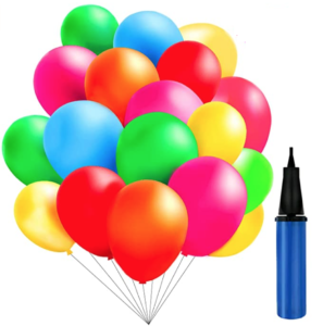 100 Balloons with a Pump