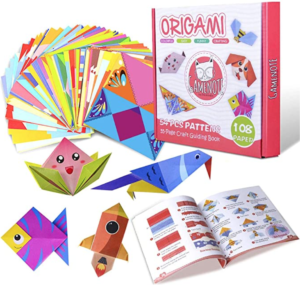 Colourful Origami Kit with Instructional Book