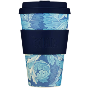 bamboo travel coffee cup - Acanthus with Deep Blue
