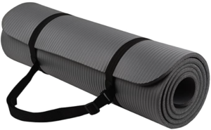 BalanceFrom GoYoga All-Purpose 1:2-Inch Extra Thick High Density Anti-Tear Exercise Yoga Mat with Carrying Strap